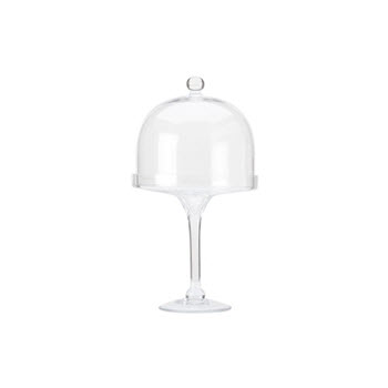 Maxwell & Williams Diamante 20cm Long Cake Stand With Dome Lid