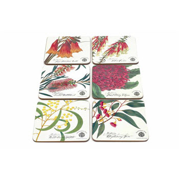 Maxwell & Williams Botanic Coasters 10.5cm Set of 6 Gift Boxed