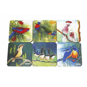 Maxwell & Williams Birds of Australia Katherine Castle Coasters 10.5cm Set of 6 Gift Boxed