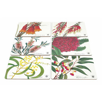 Maxwell & Williams Botanic Placemats 34cm x 27cm Set of 6 Gift Boxed
