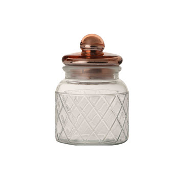 Casa Domani 650ml Trellis Storage Jar Copper