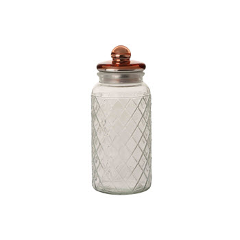 Casa Domani 1.5L Trellis Storage Jar Copper