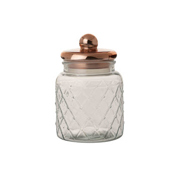 Casa Domani 2.7L Trellis Storage Jar Copper