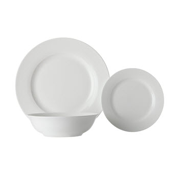 Maxwell & Williams White Basics European Rim Dinner Set 12 Piece
