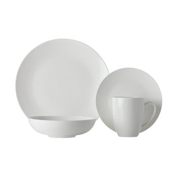Maxwell & Williams White Basics Fitzrovia Coupe Dinner Set 16 Piece