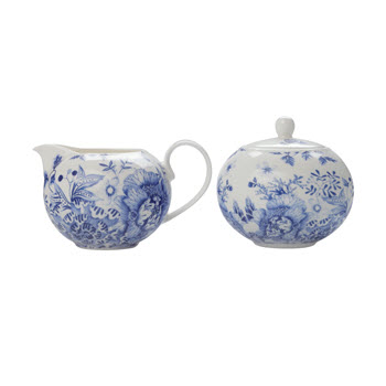 Maxwell & Williams Toile de Fleur Gift Boxed Sugar & Creamer Set