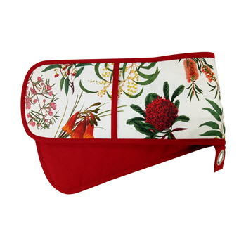 Maxwell & Williams Royal Botanic Garden Double Oven Glove Red
