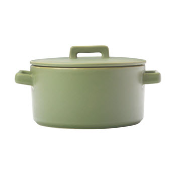 Maxwell & Williams Epicurious Round Casserole Olive Green 1.3L Gift Boxed