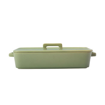 Maxwell & Williams Epicurious Rectangular Baker with Lid Olive Green 32 x 22.5 x 7cm Gift Boxed