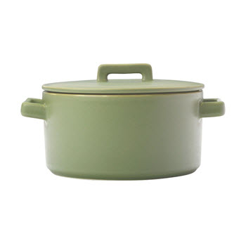 Maxwell & Williams Epicurious Round Casserole Olive Green 2.6L Gift Boxed