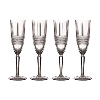 Maxwell & Williams Verona Crystal 4-Piece Champagne Flute Set 150ml
