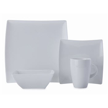 Maxwell & Williams 16 Piece West Meets East White Basics Dinner Set