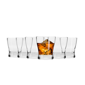 Krosno Copenhagen 300ml Whiskey Glass - Set of 6 - Gift Boxed