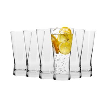 Krosno Copenhagen 360ml Hi-Ball Glass - Set of 6 - Gift Boxed