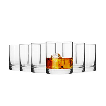 Krosno Mirage 300ml Whiskey Glass - Set of 6 Gift Boxed