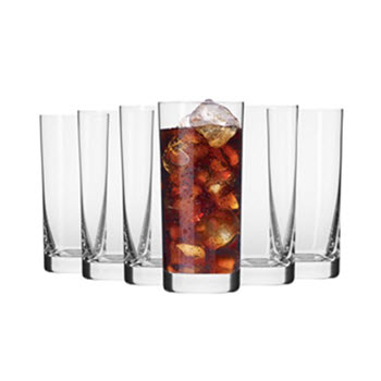 Krosno Mirage 350ml Hi-Ball Glass - Set of 6 - Gift Boxed