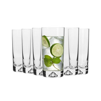 Krosno Triad Set of 6 x Hi-Ball Glasses 300ml