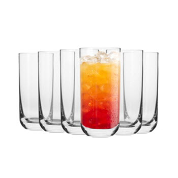 Krosno Pola 360ml Hi-Ball Glass - Gift Boxed Set of 6