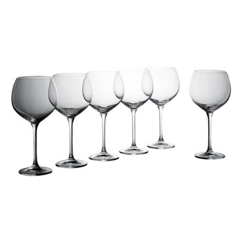 Krosno Vinoteca Gift Boxed Set of 6 x 570ml Burgundy Wine Glasses