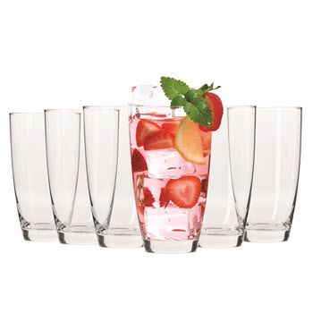 Krosno Vinoteca Set of 6 Hi-Ball Glasses 500ml  Gift Boxed