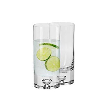 Krosno Jensen Set of 2 Hi Ball Glass 340ml