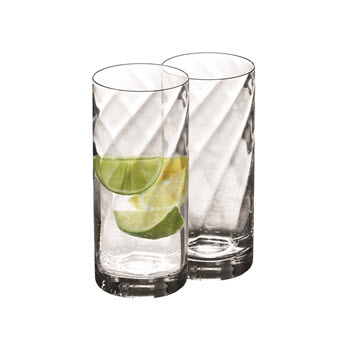 Krosno Silhouette Set of 2 380ml HiBall Glass