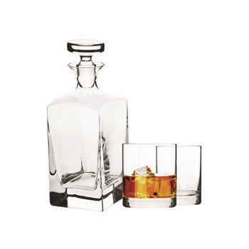 Krosno Vinoteca 3 Piece Scotch Decanter Set Gift Boxed