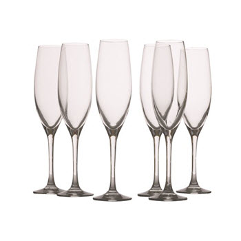 Maxwell & Williams Mansion 180ml Flute Glass Set of 6