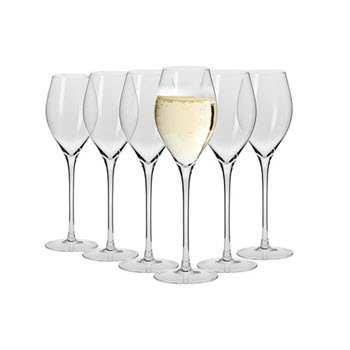 Krosno Vinoteca 300ml Prosecco Glass Set of 6