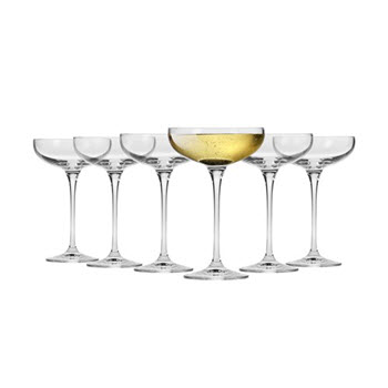 Krosno Vinoteca 240ml Cocktail Saucer Set of 6