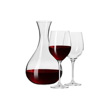 Krosno Vinoteca Wine Decanter & 2 Wine Glass Set