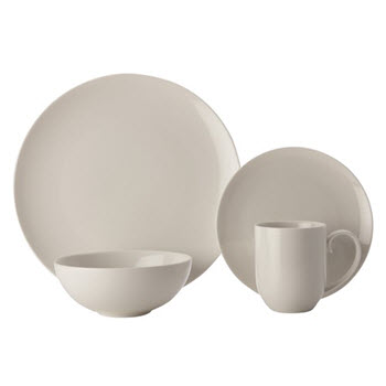Maxwell & Williams White Basics Luxurious Coupe 16 Piece Dinner Set