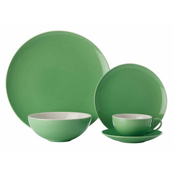 Maxwell & Williams Colour Basics Coupe 20 Piece Dinner Set Green Gift Boxed