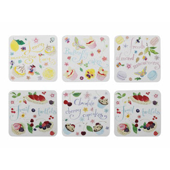 Maxwell & Williams Sweet Treats Coasters 10.5cm Set of 6 Gift Boxed