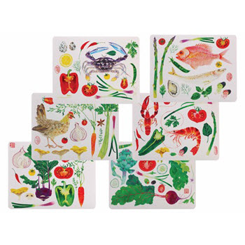 Maxwell & Williams Epicurious Placemats 34cm x 27cm Set of 6 Gift Boxed