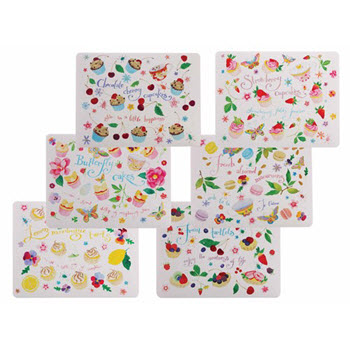 Maxwell & Williams Sweet Treats Placemats 34cm x 27cm Set of 6 Gift Boxed
