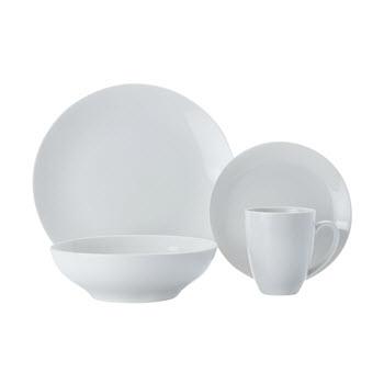 Maxwell & Williams White Basics 16 Piece Coupe Dinner Set