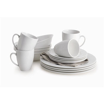 Maxwell & Williams White Basics Providence 16 Piece Dinner Set