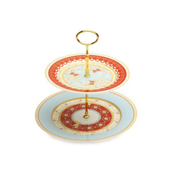 Maxwell & Williams Cashmere Enchante 2 Tier Cake Stand Jacqueline-Veronique Gift Boxed