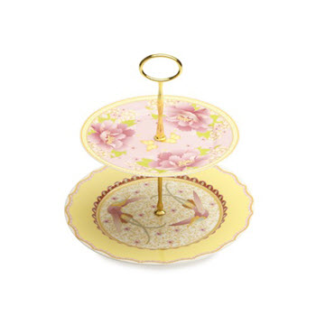 Maxwell & Williams Cashmere Enchante 2 Tier Cake Stand Gabrielle-Antoinette Gift Boxed
