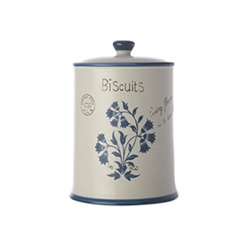 Casa Domani Periwinkle Biscuit Canister 2L