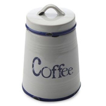 Casa Domani Rustica Canister Coffee Blue 500ml Gift Boxed