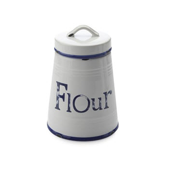 Casa Domani Rustica Canister 1L Flour Blue Gift Boxed