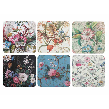 Maxwell & Williams Cashmere William Kilburn Blossom Coasters 10.5cm Set of 6 Gift Boxed