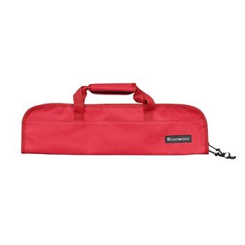 Messermeister 5 Pocket Padded Knife Roll Red