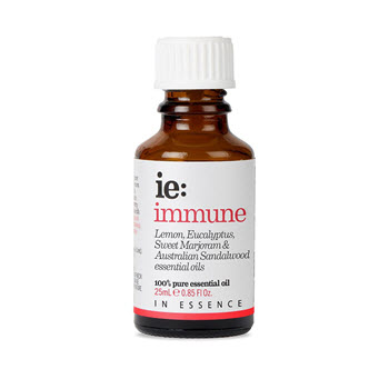 In Essence Immune Pure Essential Oil Blend: Eucalyptus, Lemon, Marjoram and Sandalwood 25ml