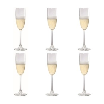 Cellar Tonic 6 Piece Flute Glass Set 240ml