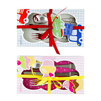 Ambrosia Manhattan Childrens 3 Piece Cutlery Set - Boy