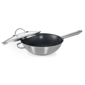 Soffritto Chef Series 28 x 8cm Stirfry Pan with Lid & Helper Handles