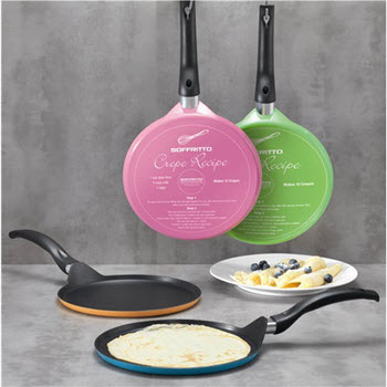 Soffritto 25cm Crepe Pans in Assorted Colours